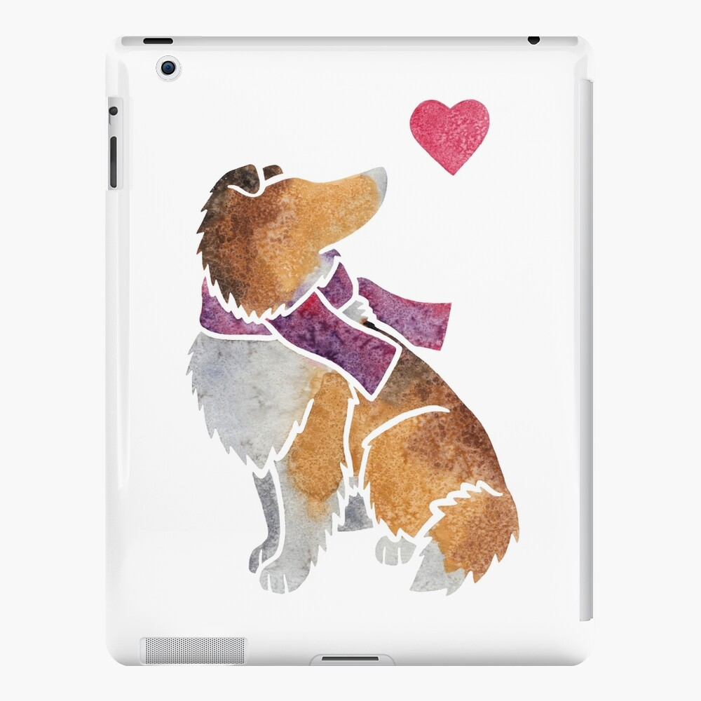 Watercolour Rough Collie iPad Case & Skin
