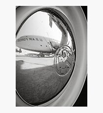 VW Hubcap Air Force Airplane Photographic Print