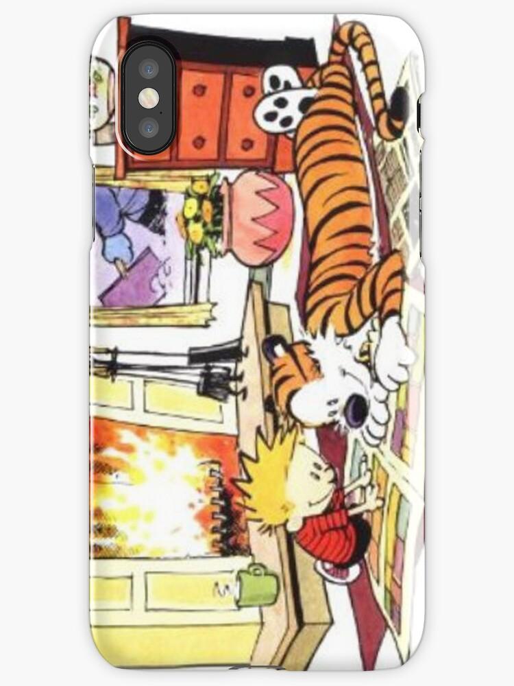 Vinilos y fundas para iPhone «Serie Calvin Hobbes» de Keithwhitman ...