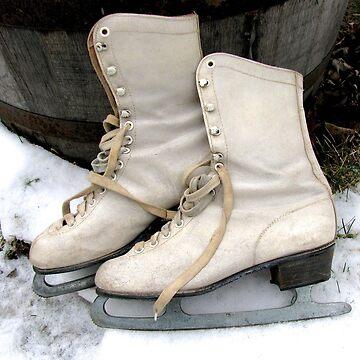 Vintage Ice Skates by collageDP