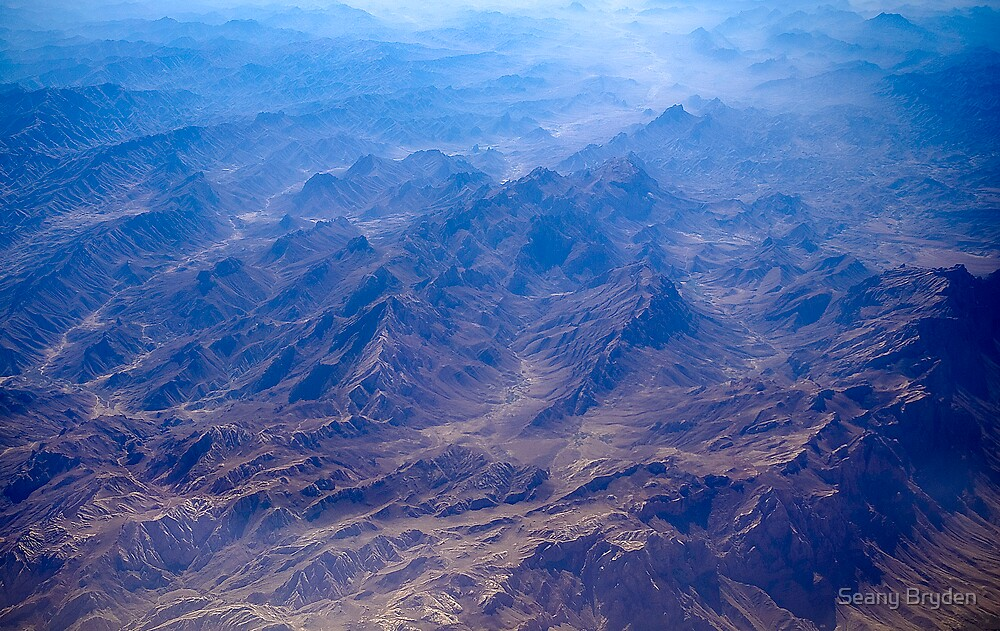 Afghanistan from the air by Seany Bryden