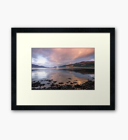Great Glen Sunset Framed Print