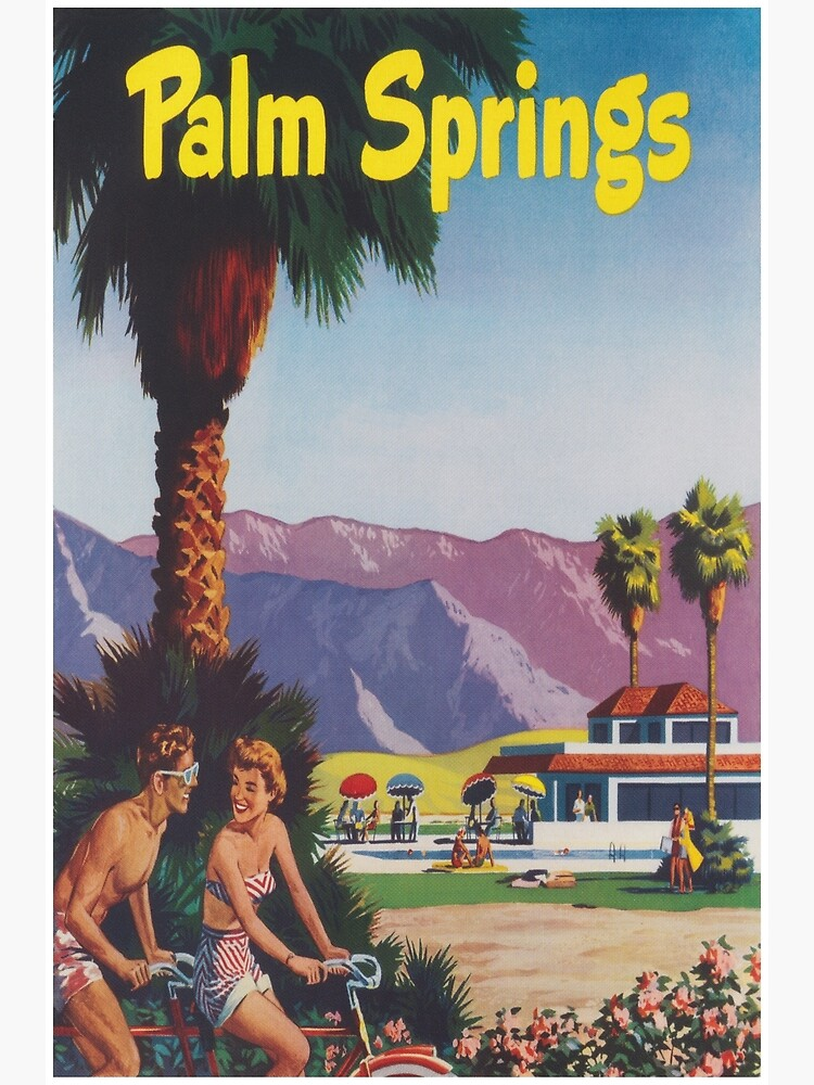 Palm Springs, California Retro Vintage Poster by vintagevivian
