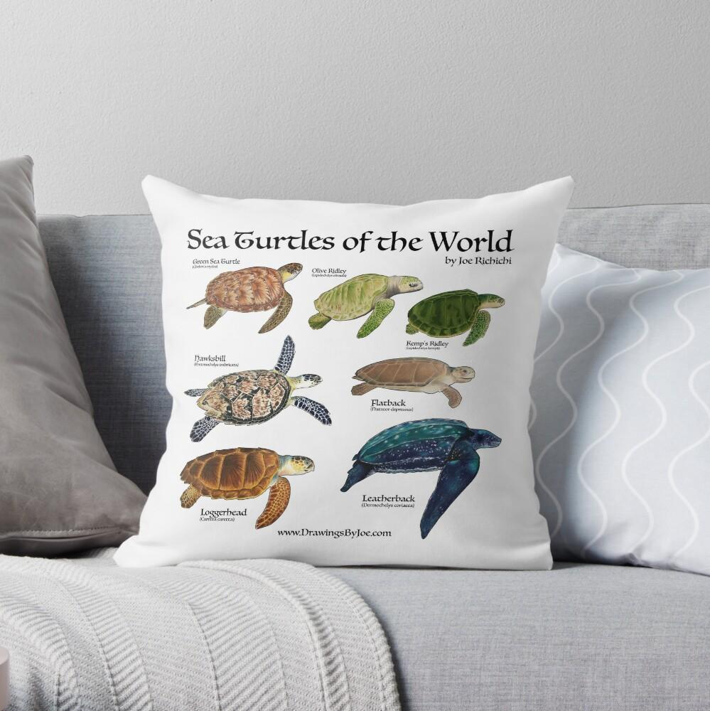 Meeresschildkröten der Welt Dekokissen