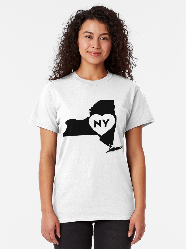 Alternate view of I Love New York State Classic T-Shirt