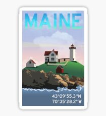 Nubble Lighthouse Sticker