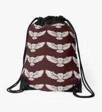 Owl wing span Drawstring Bag