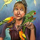 """Self-Portrait with Birds""  by Skye Elizabeth  Tranter"