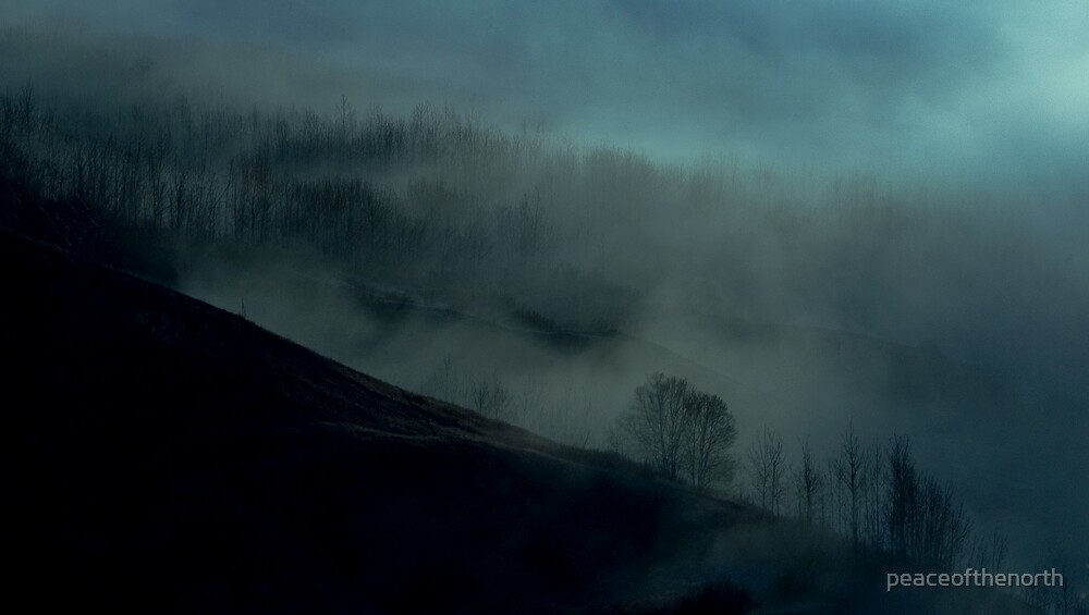 That Foggy Hillside by peaceofthenorth