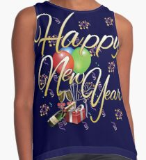 Happy New Year Contrast Tank