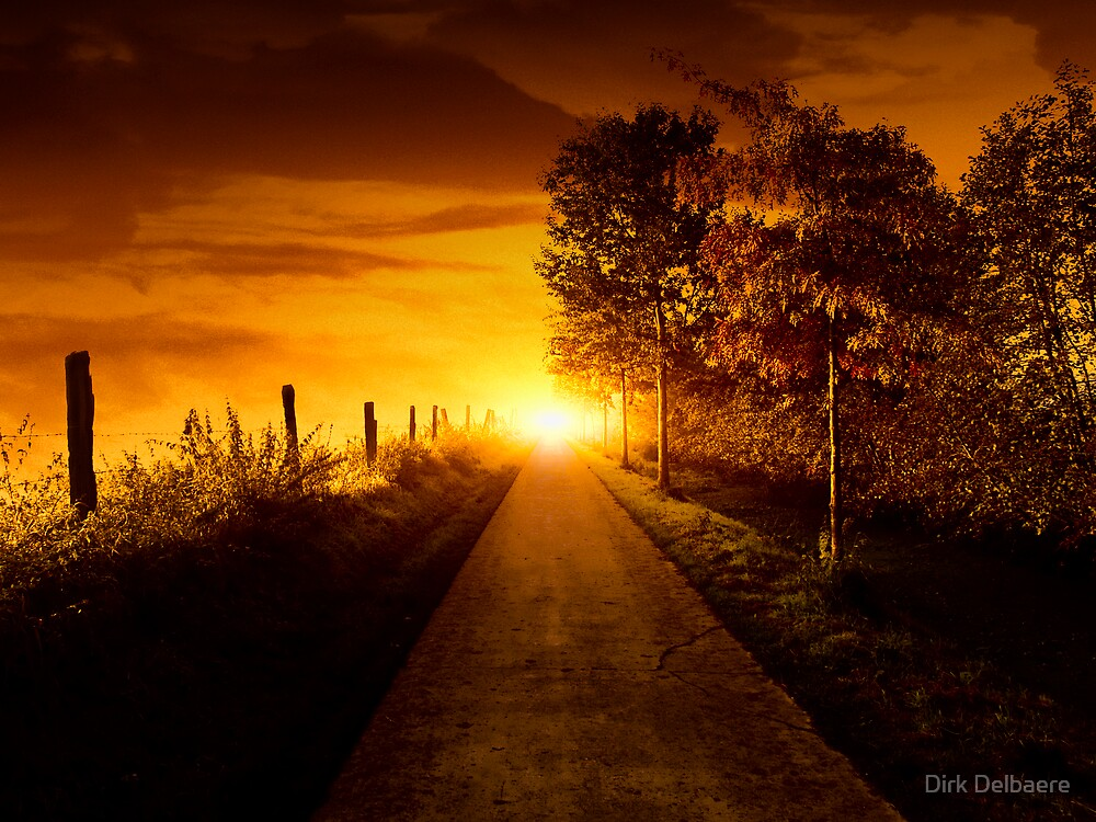 Light at the end by Dirk Delbaere
