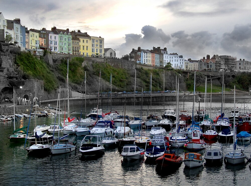 Tenby Boats by Andy Coleman