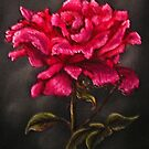 """Pink Rose"" - Oil Painting by Avril Brand"