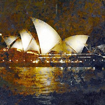 'Turneresque' Sydney Opera House at night by ChateauGlenunga