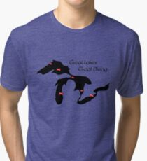 Great Lakes, Great Diving Tri-blend T-Shirt