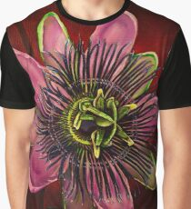 Painted Passion flower Graphic T-Shirt