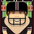 American Football Black and Maroon - Enzone Puntfumbler - Josh version by boxedspaper