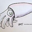 Chibi Squid by Byron  McBride