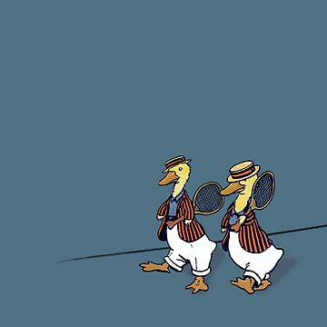 """Dapper Ducks Waddle to Wimbledon"" by vertigocreative"