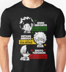 Camiseta unisex Deku, Kachan y Todoroki