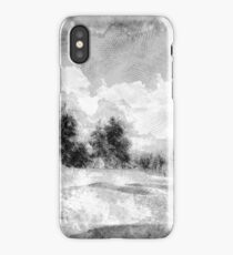 sketching a winter dream  iPhone Case