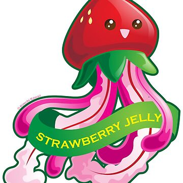 Cute Strawberry Jellyfish Pun by kimchikawaii