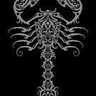 Gray und Black Tribal Scorpion von jeff bartels