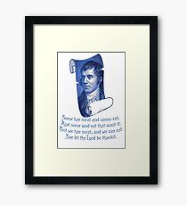 The Selkirk Grace Burns Night Supper Poem Framed Print