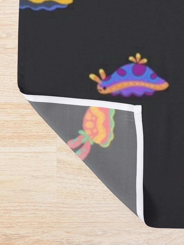 Alternate view of Sea slug - black Shower Curtain