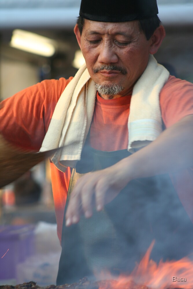 Satay Man at Mindil Markets by Basa