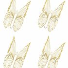 Gold Butterfly for colouring by KazM