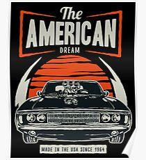 Amerikanisches Muskelauto Poster