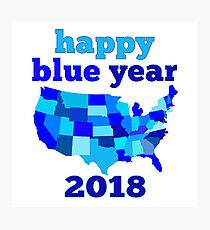 Happy BLUE year! Photographic Print