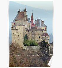 Menthon Saint Bernard castle Poster
