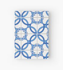 TRAVEL TO LISBON – Portuguese tiles, blue and white Hardcover Journal