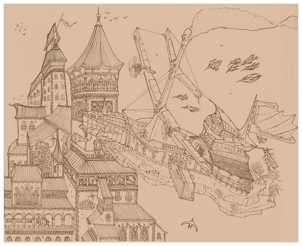 « Entrée en ville » par Guillaume Leduc