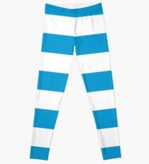 Blue and White Stripe Leggings