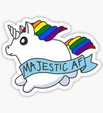 Majestic AF Unicorn Sticker