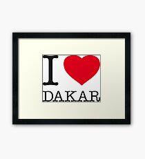 I ♥ DAKAR Framed Print