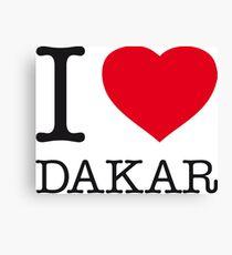 I ♥ DAKAR Canvas Print