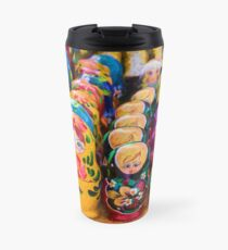 Traditional Russian matryoshka Nesting Puzzle Dolls Travel Mug