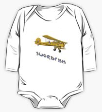British Swordfish Biplane WWII  One Piece - Long Sleeve