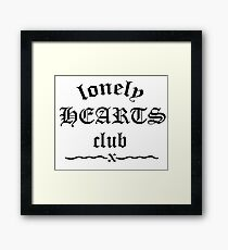 Lonely Hearts Club Framed Print