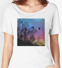 Night Wisdom - Colorful Women's Relaxed Fit T-Shirt