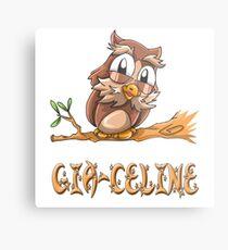 Gia-Celine Owl Metal Print
