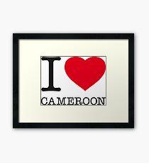 I ♥ CAMEROON Framed Print