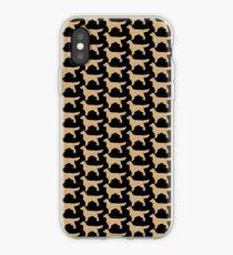 Golden Retriever Silhouette | Golden Glitter Dogs iPhone Case