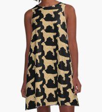 Golden Retriever A-Linien Kleid