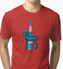 polo horse blue Vintage T-Shirt