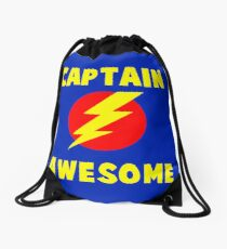 CAPTAIN AWESOME  Drawstring Bag